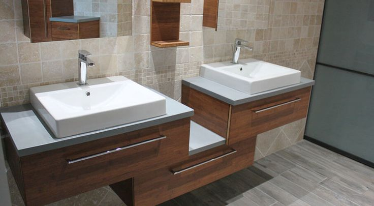 42 best am nagmenent et meuble de salle de bains en b ton cir images on pinterest beton. Black Bedroom Furniture Sets. Home Design Ideas