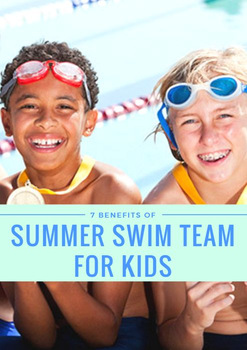 The benefits of swim team go far beyond summer fun. Swimming shares many of the positive attributes of land-based exercise, as well as several other physical, mental and emotional benefits for kids. 7 Benefits of Summer Swim Team for Kids http://www.activekids.com/swimming/articles/7-benefits-of-summer-swim-team-for-kids