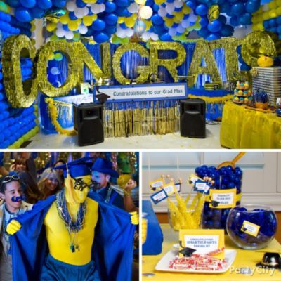 Graduation Pool Party Ideas find this pin and more on hs graduation pool party School Colors Graduation Ideas Gallery Party City