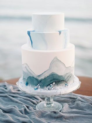 Trend: wedding cakes in the form of precious stones - The-wedding.ru