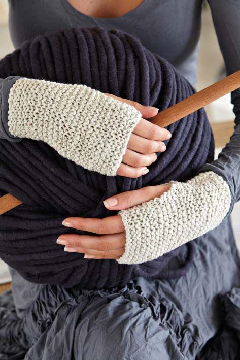 Free pattern for Fingerless Mittens
