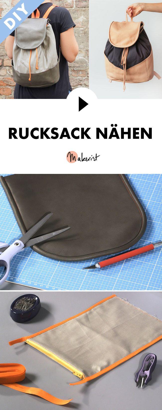 Individuellen Rucksack nähen – Step by Step erklärt im Video-Kurs via Makerist…