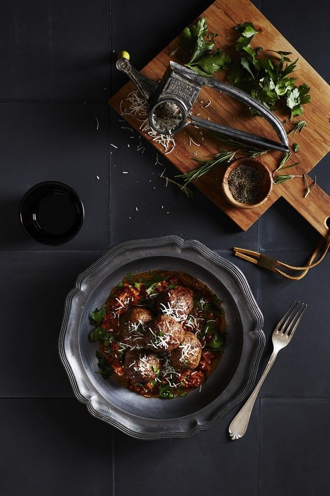 Classic Beef Meatballs with Chunky Italian Sauce | Dish | Delicious ...