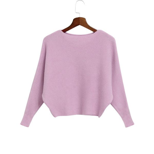 Yoins Pink Off Shoulder Bat Sleeves Loose Jumper ($25) ❤ liked on Polyvore featuring tops, sweaters, pink, batwing sleeve sweater, sexy sweaters, off shoulder tops, pink top and pink off shoulder sweater
