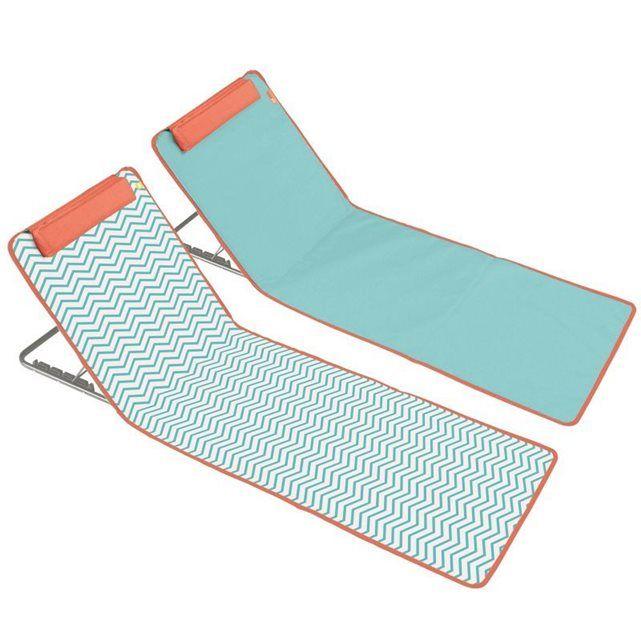 Lot de 2 matelas clic clac des plages bleu et zigzag 38€ BOUTIQUE-JARDIN