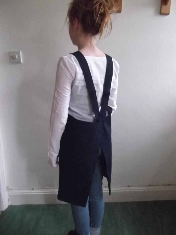Fabulous Raw Denim cross back pinafore £50 Worn with fine cotton raw cuffed blouse £35: from http://www.scobelclothing.co.uk .