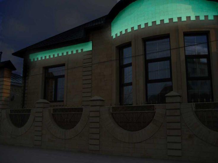 Покраска фасада дома светящейся краской Acmelight Facade ***** Painting the facade of the house with Acmelight Facade luminous paint #фасад #краска #facade #house #luminous #paint