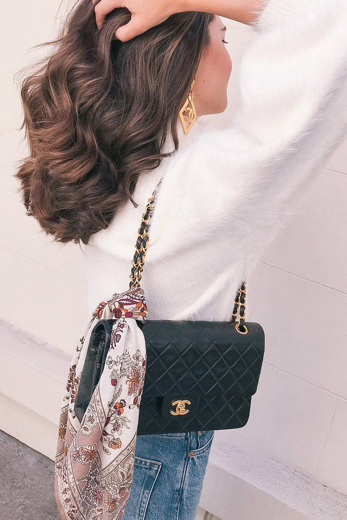 75597db8d82e3c Vintage 1990s Chanel 2.55 Classic Flap Bag in Black Lambskin from Sweet &  Spark.