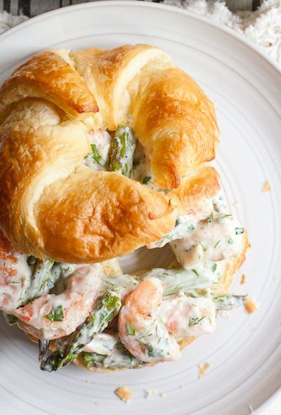 Roasted Shrimp and Asparagus Salad Sandwiches *gotta try this one this Summer!
