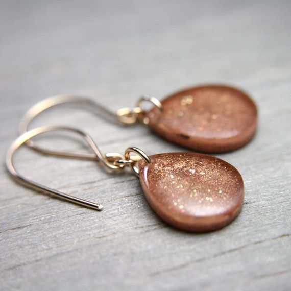 Sparkly camel earrings by TinyGalaxies