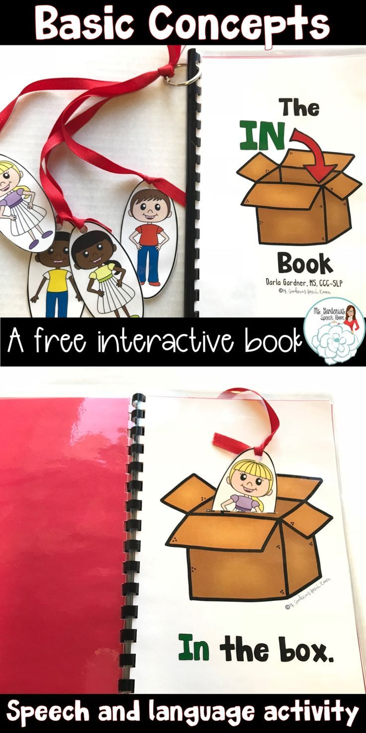A free speech and language interactive book for young students to work on In/Out concepts and WH questions from Ms. Gardenia's Speech Room on Teachers Pay Teachers