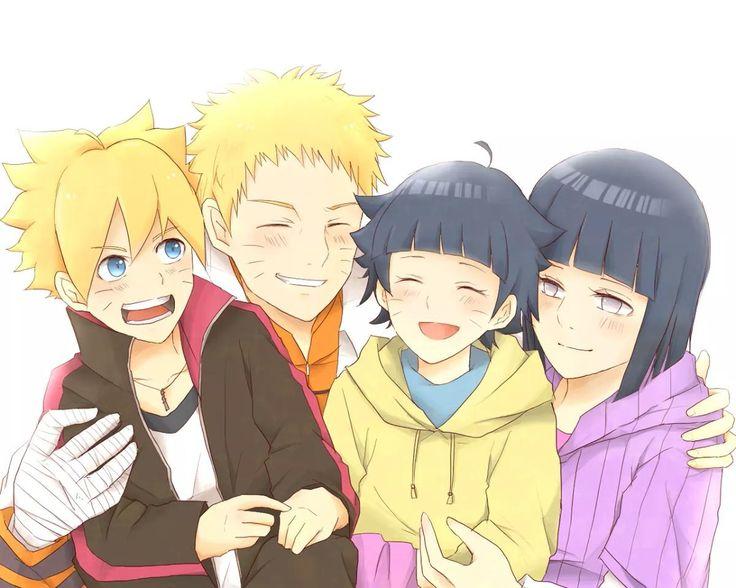 Naruto, Hinata, Boruto and Himawari ♥♥♥ #Love #Couple #Family #Beautiful #Cute