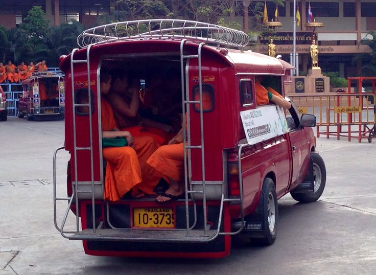 Bus load of Monks - Wat Phra Singh temple