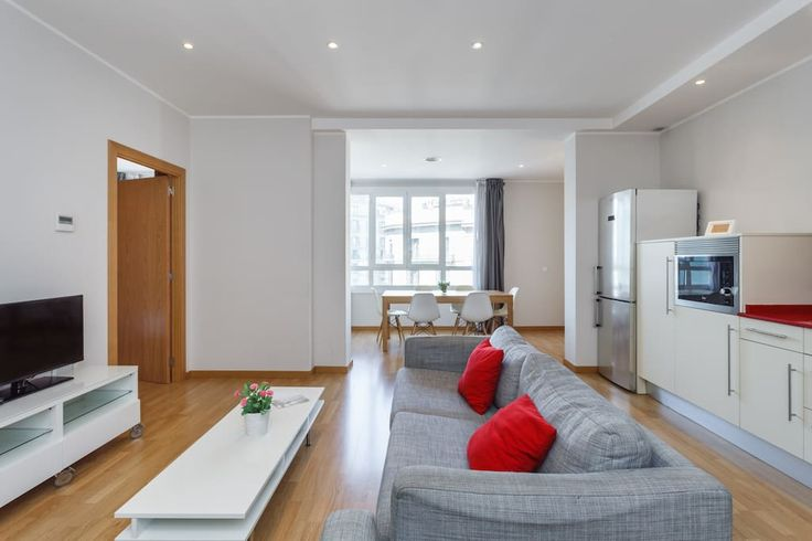 Entire home/apt in Barcelona, Spain. This gorgeous, brightly-lit apartment is located right in the heart of the city, a few meters (just a 2 minute walk) from Plaza Cataluña, Las Ramblas and Paseo de Gracia, with all its high-end fashion stores.
