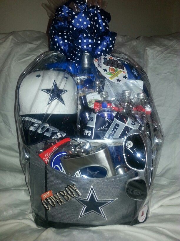 Dallas Cowboy basket. Cooler is filled with beer )  66303306d