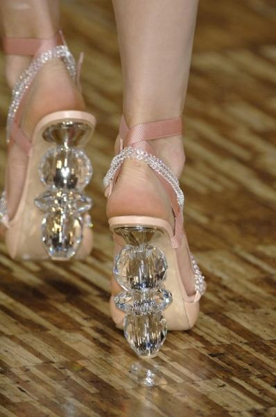 Crystal shoes by Viktor & Rolf