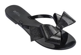 """""""Flip flop's"""" by briyannaelainhoy on Polyvore featuring shoes, sandals, flip flops, beach shoes, melissa sandals, bow sandals, melissa flip flops and glitter sandals"""