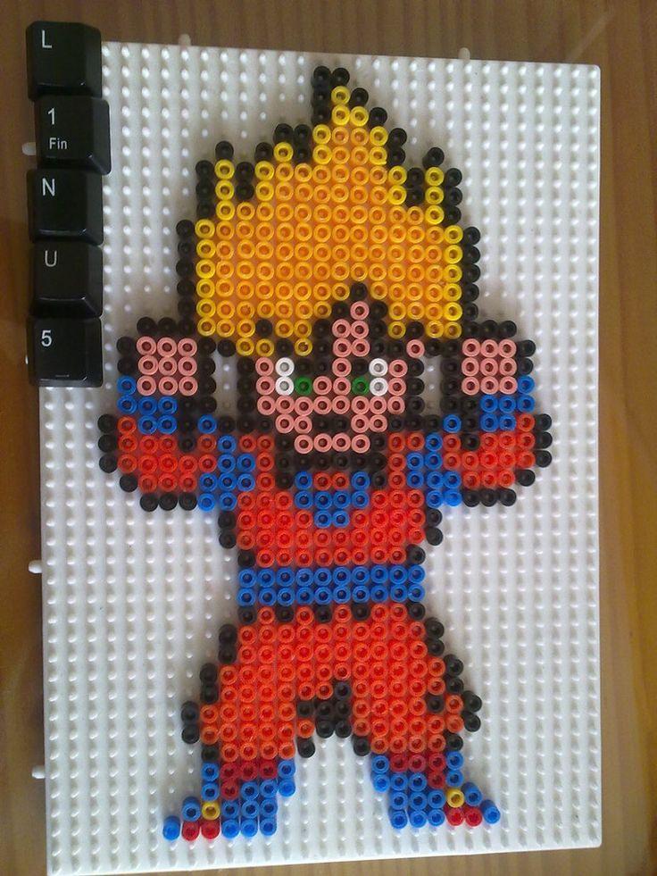 Super Saiyan Son Goku by LinusGale on DeviantArt   Crafts - Perler ...