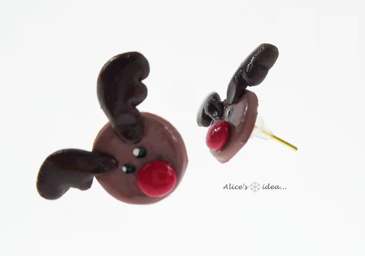"Earrings ,,Christmas""... www.alicesidea.pl  #earrings ."