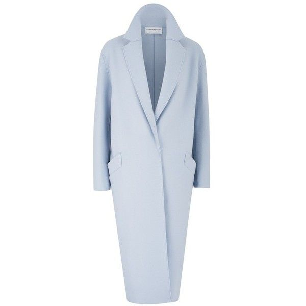 Amanda Wakeley Apache Opal Oversize Coat ($1,120) ❤ liked on Polyvore featuring outerwear, coats, neutral, wool & cashmere, amanda wakeley, oversized coats, cocoon coat and oversized cocoon coat