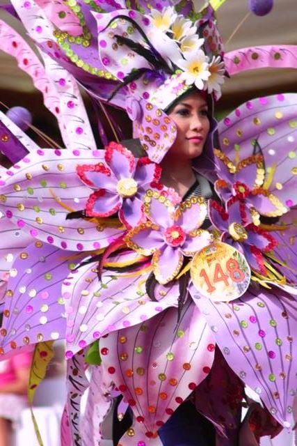 good....from ' Malang Flower Carnival ' of Yudhi d'Kross, 2013.  Malang is the second largest city in East Java province, Indonesia
