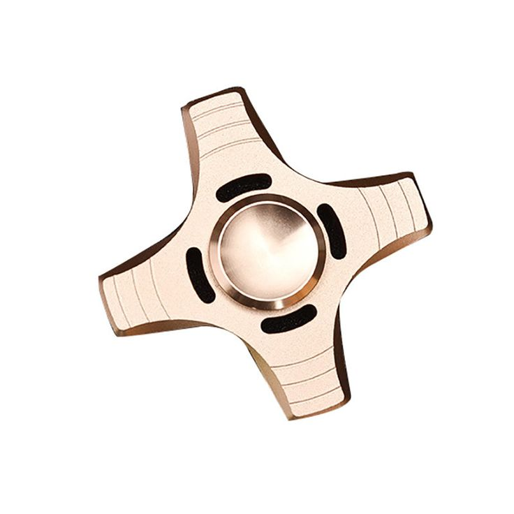 Aluminum Alloy Four leaves Fidget Hand Spinner ADHD Autism Reduce Stress Focus Attention Toys