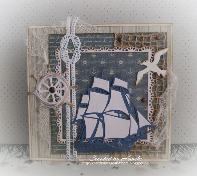 DT card, maritime made for https://www.anmacreatief.nl