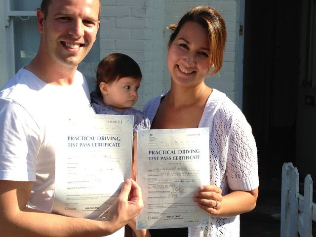 Well done to Ed and Monica Stephens who both passed within 24 hours of each other at the Morden Driving Test Centre.