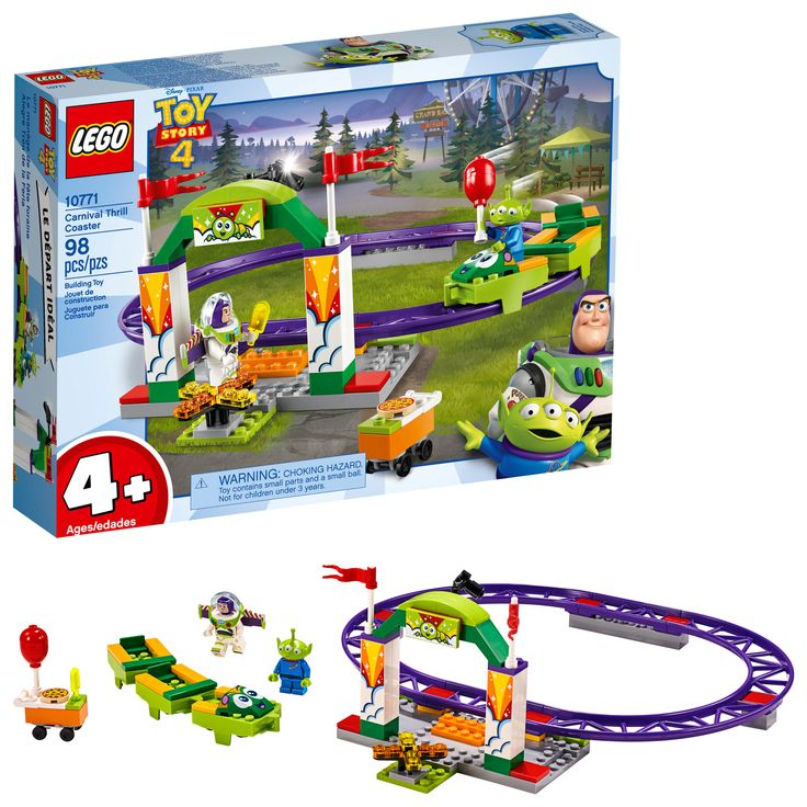 Lego disney pixars toy story 4 carnival thrill coaster