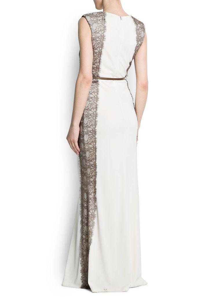 MANGO - CLOTHING - Dresses - Panels lace gown