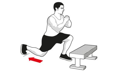 TERS LUNGE STEPUP