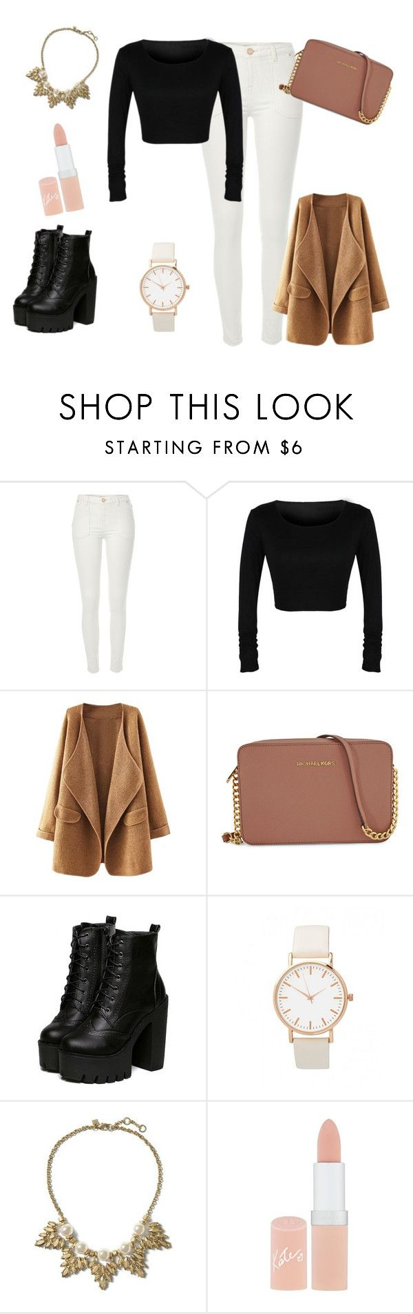 """Jesień :)))"" by dagusia112 on Polyvore featuring moda, River Island, Michael Kors, Banana Republic i Rimmel"