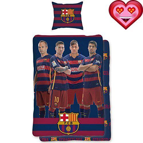 #2017  100% official FC #Barcelona merchandise Reversible duvet cover design Features Neymar, Suarez, Messi and Iniesta Duvet cover size: 140cm x 200cm (55in x ...