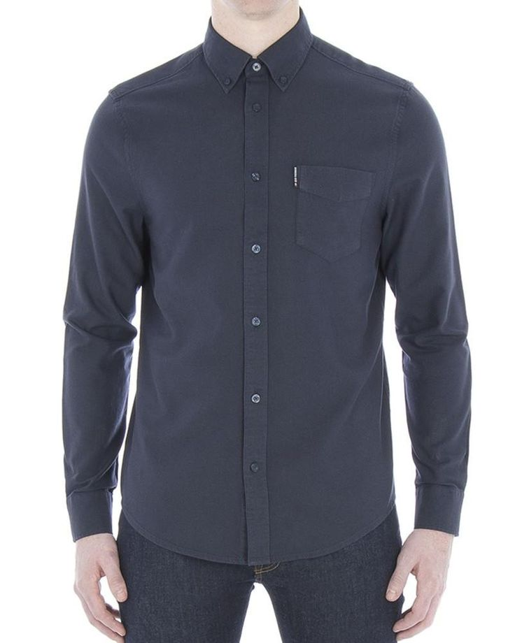 Ben Sherman Classic Long Sleeve Oxford Shirt Dark Navy