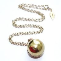 Vintage 1960s ball locket necklace from @Jenny Leigh