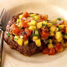 Jamaican Jerk Turkey Burgers with Tropical Mango Papaya Salsa #WeightWatchers #Recipe
