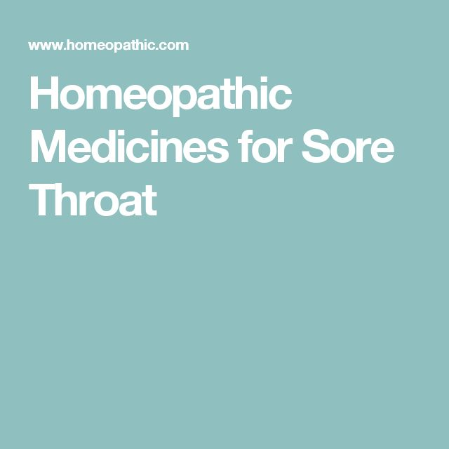 Homeopathic Medicines for Sore Throat