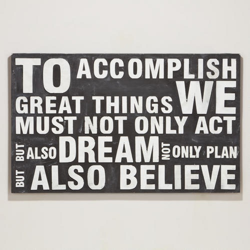 To Accomplish Great Things Wall Décor