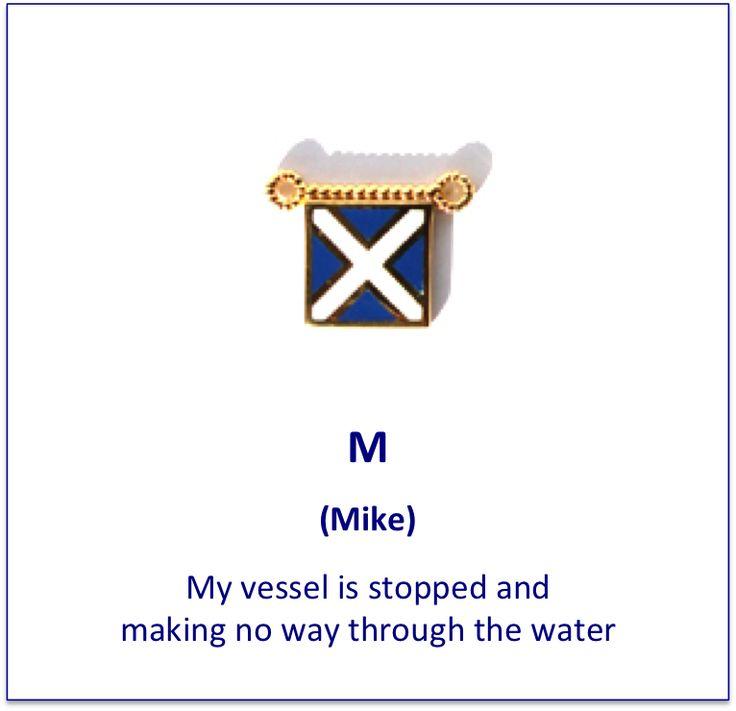 M (Mike) signal flag charm