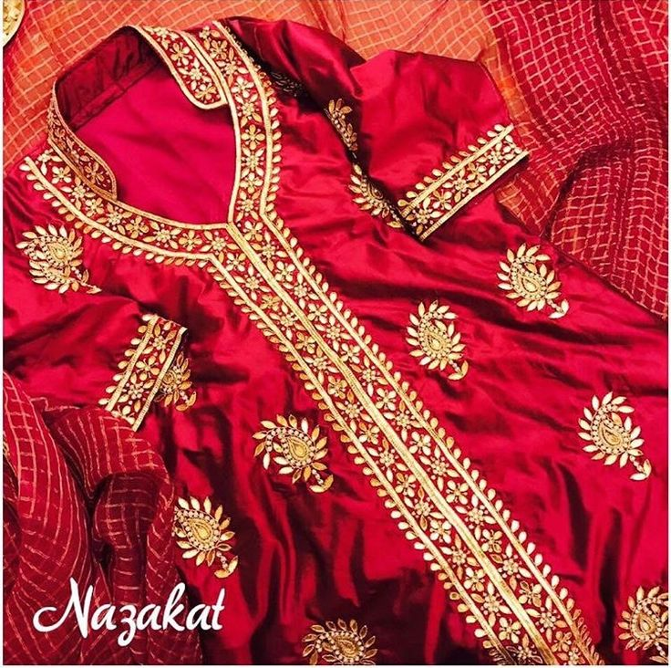High-collared goodness by Nazakat Boutique, Jalandhar.