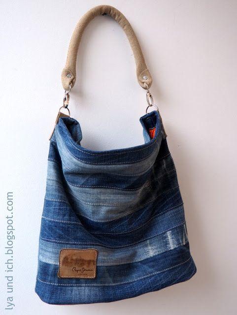 Chobe Upcycling Bag genäht von lyaundich.blogspot.de Das Schnittmuster für diese Tasche ist erhältlich bei Elle Puls
