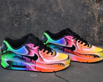 e645b5cc3e Custom Nike Air Max 90 Funky Galaxy Colours Graffiti Airbrush | Etsy