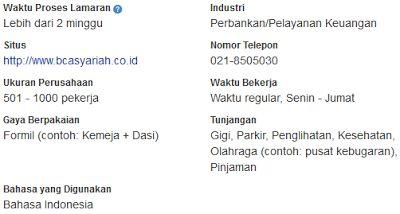 Lowongan Kerja Bank Februari Jakarta 2017 PT Bank BCA Syariah