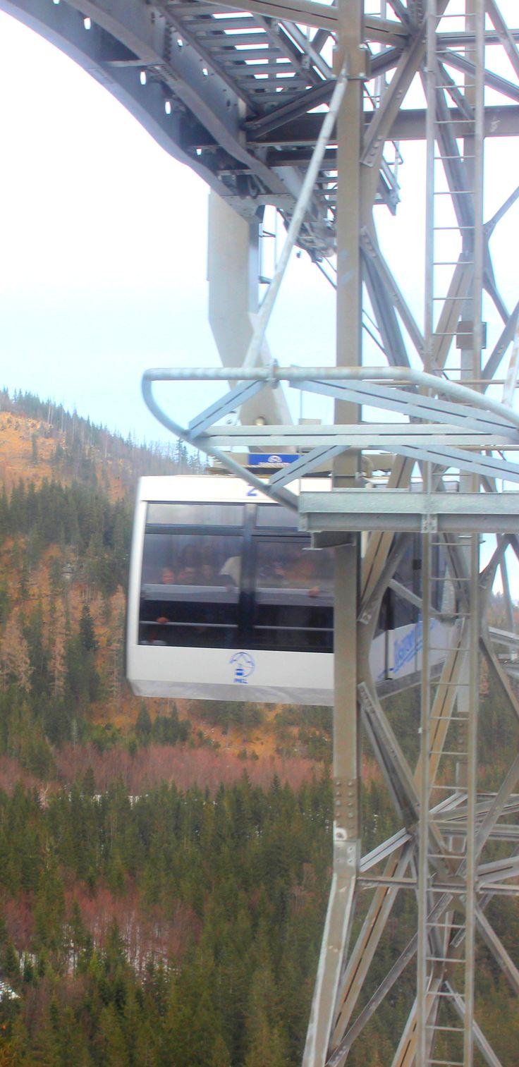 Cable car up to the Tatra Mountains, Zakopane, Poland