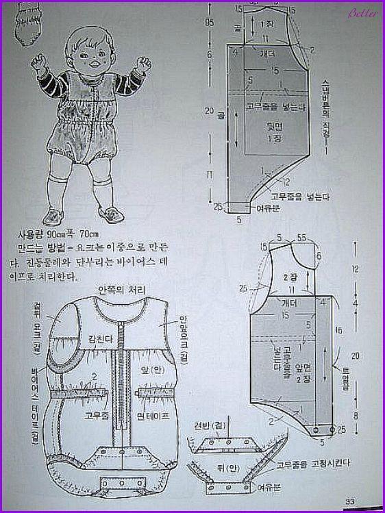 Текстильные фантазии и не только: Распашонка, ползунки, боди (с выкройками)