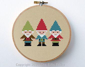 cross stitch santa's - Pesquisa Google