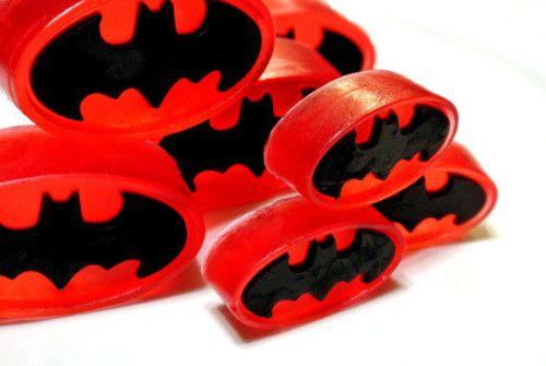 Handmade Batman Soaps - DIY Soap Project Idea