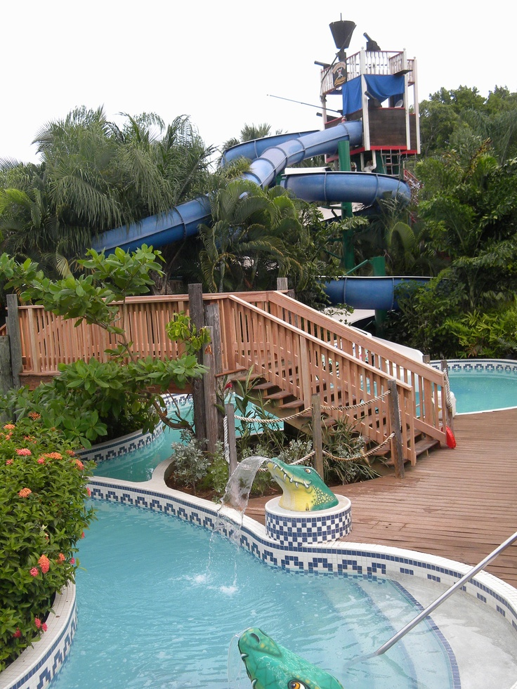 Lazy River & Water Slides At Beaches Negril Resort. Fun