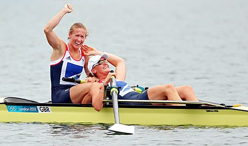 London 2012:  These two late-blooming rowers - Heather Stanning and Helen Glover - ended the gold medal drought for Team Great Britain, winning the 2000m Women's Pairs. It's the first-ever Olympic gold won by a British women's crew.