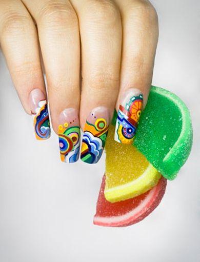 Słodko i kolorowo, idealne na zbliżające się lato ;) #nail #nails #nailart #paznokcie